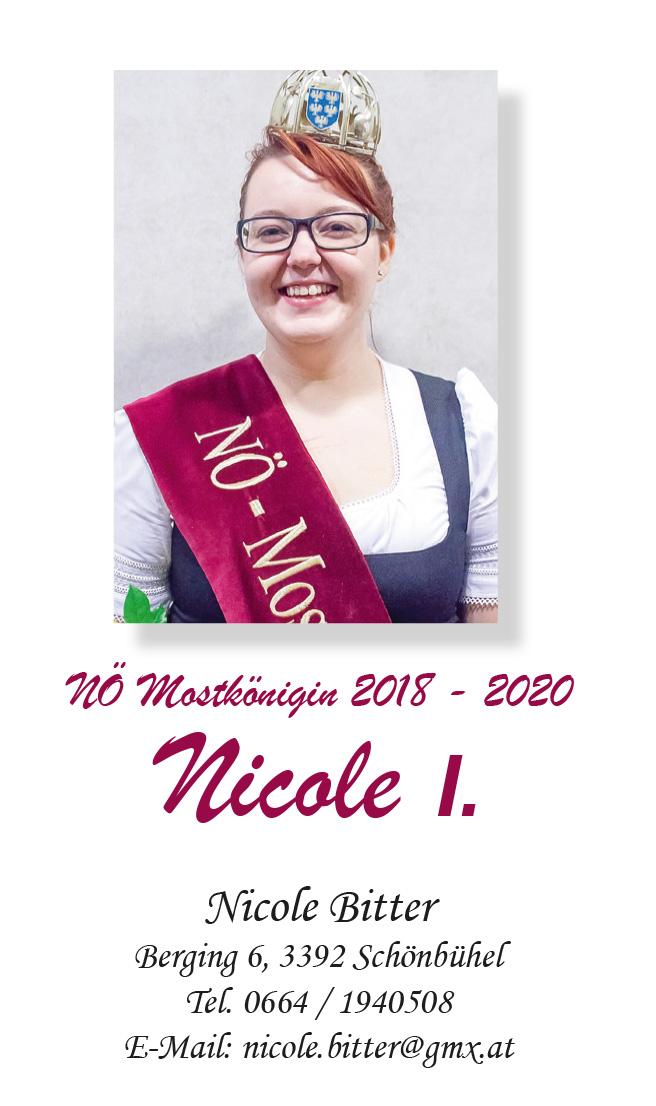 Foto von NÖ Mostkönigin Nicole I. Bitter