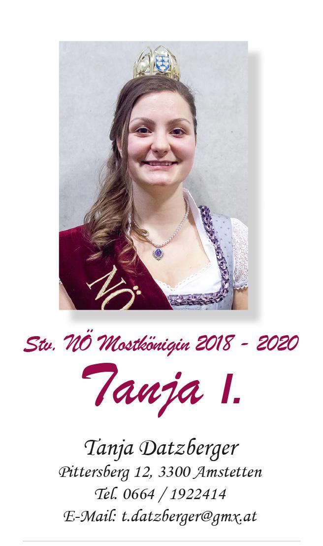 Foto von NÖ Stv. Mostkönigin Tanja II. Datzberger